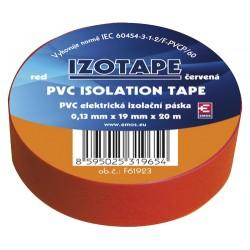 Páska izolační PVC 19/20m  červená EMOS