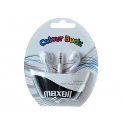 Sluchátka Maxell 303484 Colour Budz White