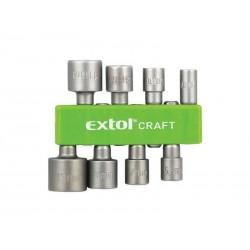 Nástrčné klíče do vrtačky EXTOL CRAFT 10213 8ks