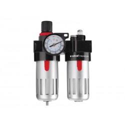 Regulátor tlaku s filtrem a manometrem a přimazávačem oleje EXTOL PREMIUM 8865105