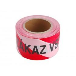 Páska výstražná červeno-bílá ZÁKAZ VSTUPU 75mm x 250m  EXTOL CRAFT 9568