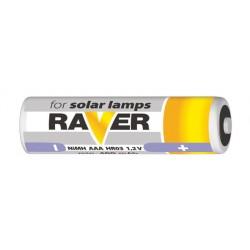 Baterie AAA (R03) nabíjecí 1,2V/400mAh RAVER solar