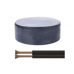 Dvojlinka ECO 2x0,75mm, černo/rudá, 100m