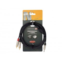 Kabel STAGG mini JACK stereo/2xRCA 3m