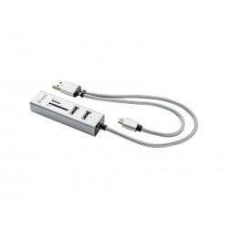 Redukce USB hub YENKEE YHC 102SR + OTG + čtečka