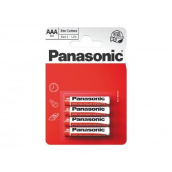 Baterie AAA (R03) Zn-Cl PANASONIC Red 4BP