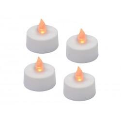 Svítidlo LED svíčka čajová 4 kusy + baterie