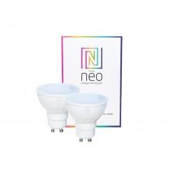 Chytrá WiFi žárovka LED GU10 3.5W RGBW IMMAX NEO 07006B 2ks