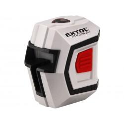 Laser liniový, křížový samonivelační 1H1V, přesnost 0,5mm/m, rozsah l.: 10m EXTOL-PREMIUM