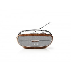 Rádio NEDIS RDFM5310BN BROWN/SILVER
