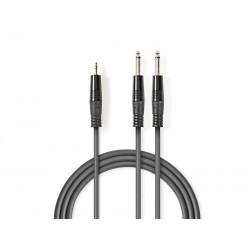 Kabel NEDIS JACK 3.5 konektor/2xJACK 6.35 konektor 5m