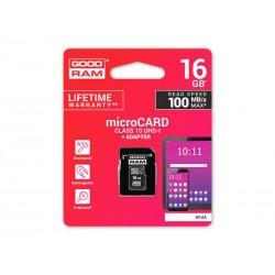 Karta paměťová GOODRAM micro SD 16 GB s adaptérem