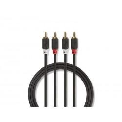Kabel NEDIS 2xCINCH konektor/2xCINCH konektor 1m