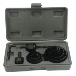 Vrtáky vykružovací korunkové, sada 11ks, max. hloubka vrtu 25mm, 19-64mm GEKO