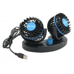Ventilátor MITCHELL DUO 2x85mm USB 5V na palubní desku