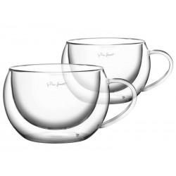 Sklenice LAMART LT9012 VASO cappuccino 2ks 270ml