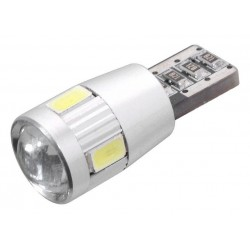 Žárovka 6 SMD LED 12V T10 s rezistorem CAN-BUS ready bílá COMPASS