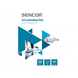 Fólie laminovací SENCOR SLA FA4B200 A4 200mic 100ks