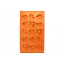 Forma ORION Christmas silikon oranžová
