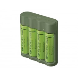 Nabíječka baterií GP Everyday B421 + 4xAA ReCyko 2700 + USB