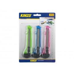 Nůž odlamovací plastový KINZO 18mm sada 3ks
