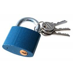 Zámek visací litinový, 45mm, 3 klíče EXTOL-CRAFT